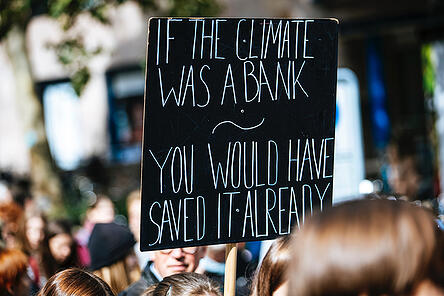 Sign with text if the climate was a bank you would have saved it already