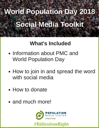 Information about PMC and World Population DayHow to join in and spread the word with social mediaHow to donate& more! (2)