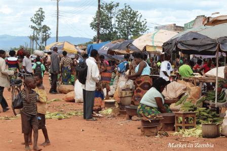 market in Zambia