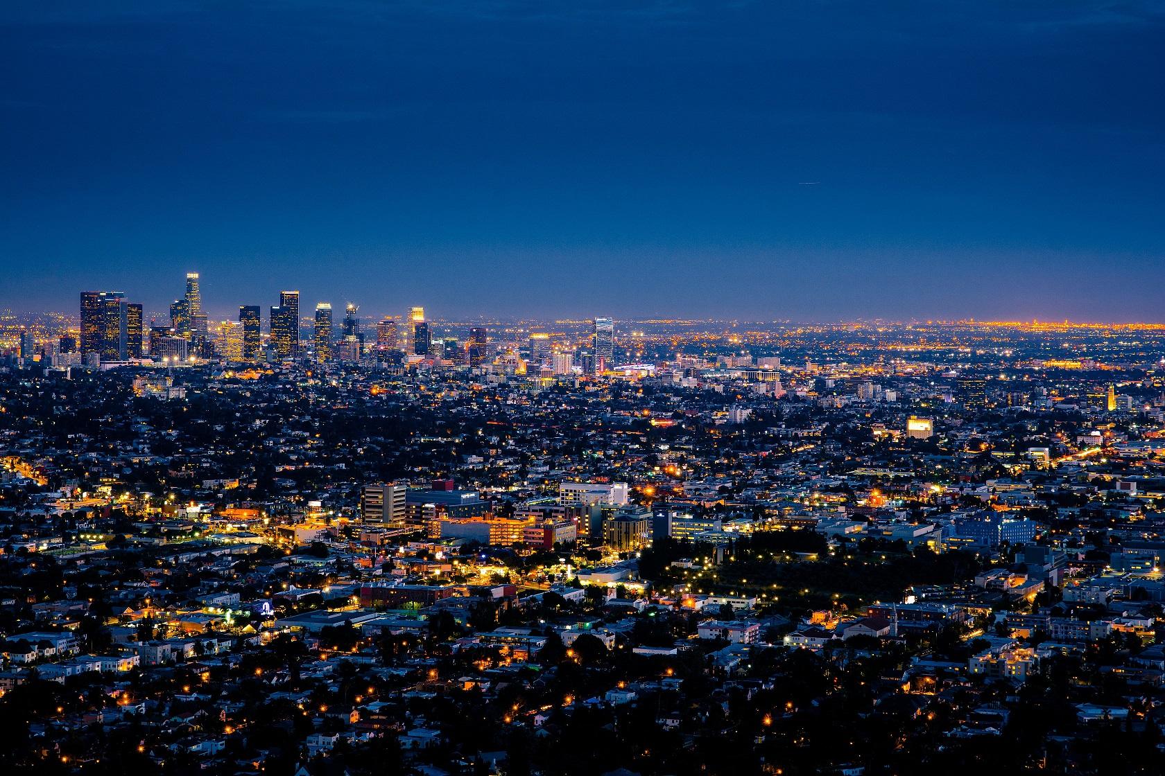 Evening cityscape. Photo by Henning Witzel on Unsplash.