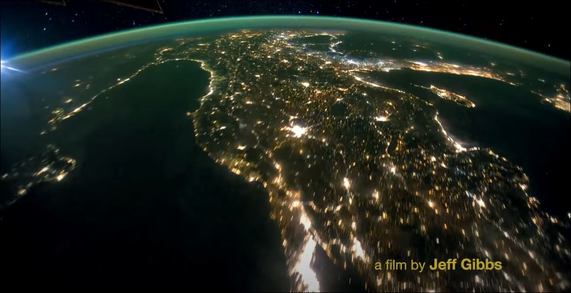Picture of Earth from space at night